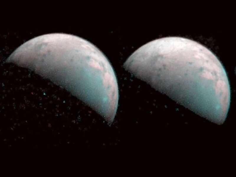 Juno maps water ice across northern Ganymede