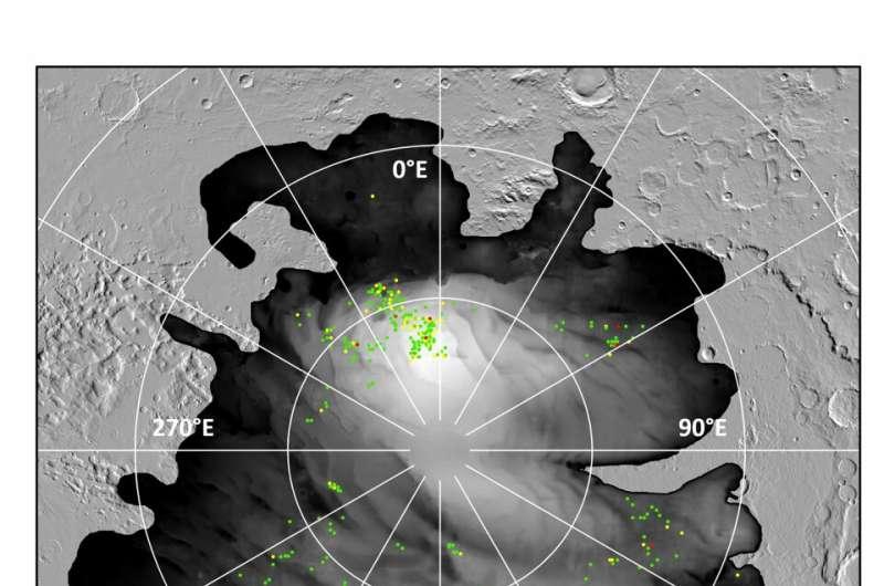 'Lagos' bajo el polo sur de Marte: ¿una imagen borrosa?