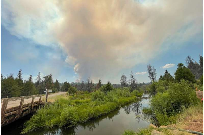 Largest fire grows, forces evacuation of wildlife station