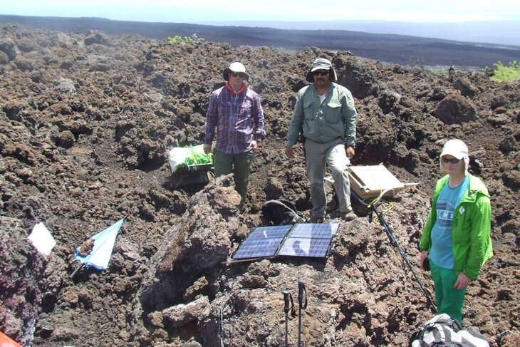 Lead up to volcanic eruption in Galapagos captured in rare detail