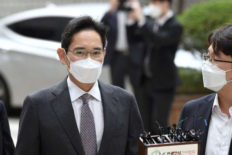 Lee Jae-yong, Samsung Electronics vice chairman and de facto leader of Samsung Group, arrives for his trial on charges of illega