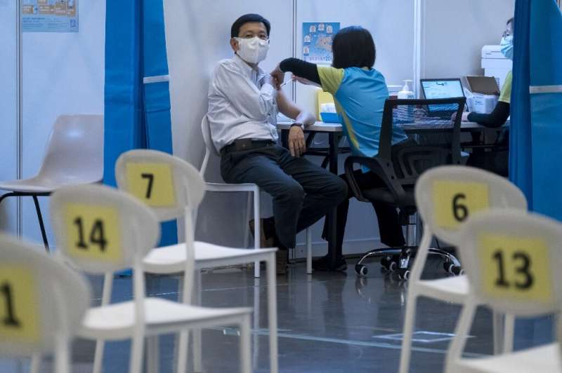 Less than 20 percent of people in Hong Kong have so far chosen to have the coronavirus vaccine, despite plentiful supplies