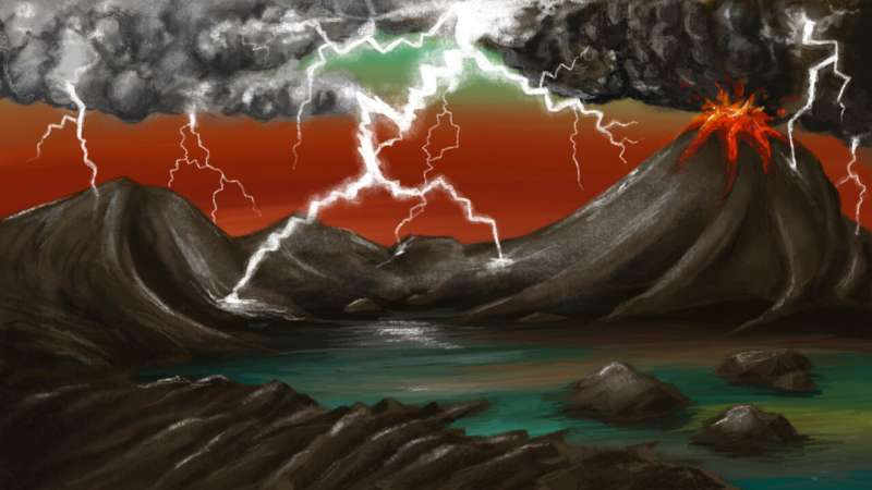 Lightning strikes played a vital role in life's origins on Earth