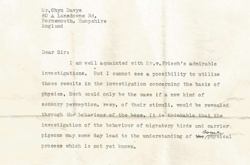 Long-lost letter from Albert Einstein discusses a link between physics and biology, 7 decades before evidence emerges