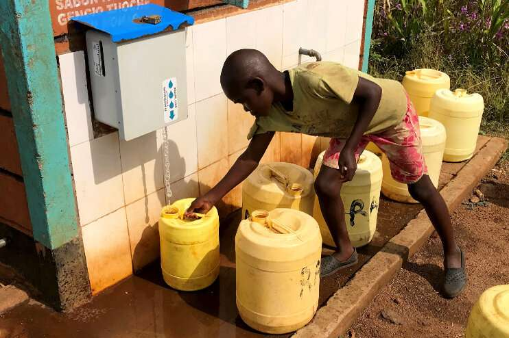 Low cost chlorine dispensing device improves tap water safety in low-resource regions