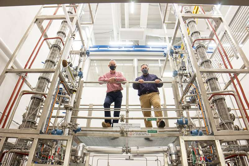 LSU Chemical Engineering Unveils New Distillation Columns