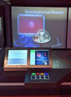 Making waves at the museum: The interactive science exhibit based on a real-life gravitational-wave detector