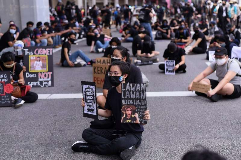 Malaysians took part in a rare anti-government rally over in Kuala Lumpur over Covid-related restrictions