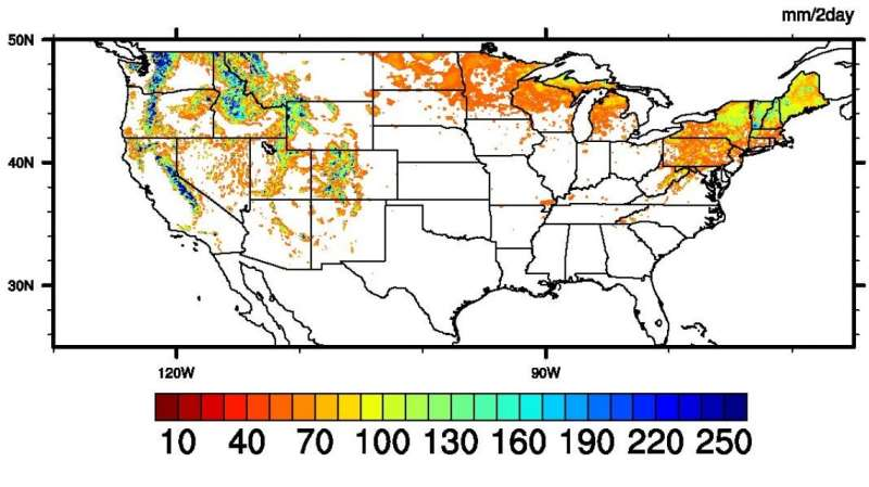 Mapping extreme snowmelt and its potential dangers