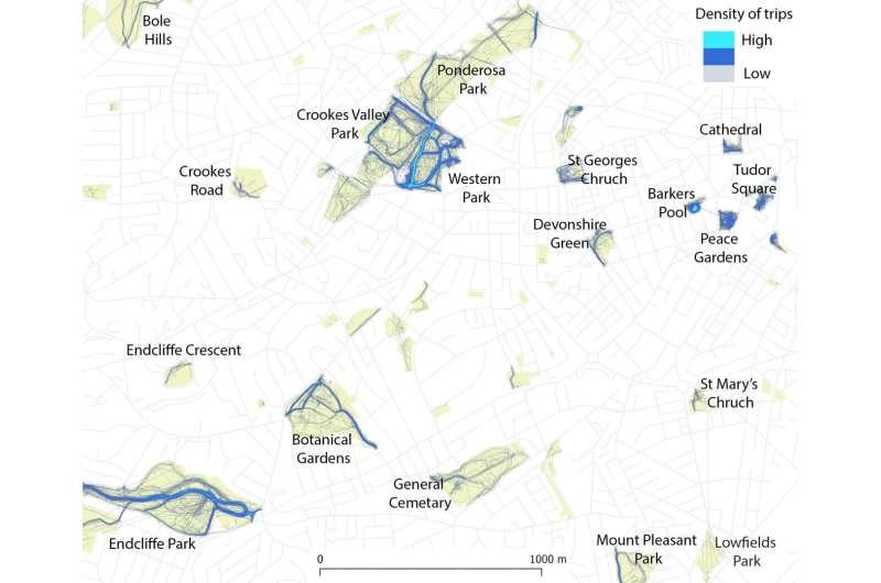 Cartographier l'utilisation des espaces verts urbains avec les données GPS des téléphones portables