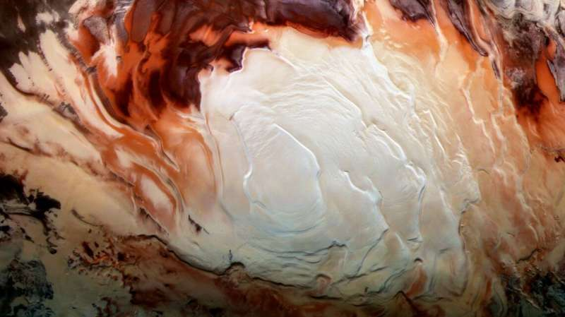 Mars' bright south pole reflections may be clay – not water