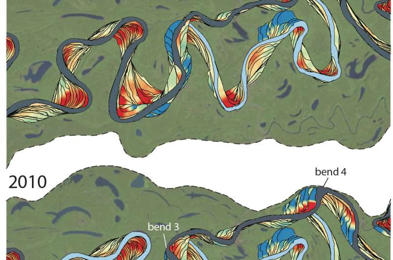"""Meandering rivers create """"counter-point bars"""" no matter underlying geology"""