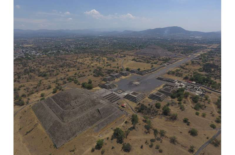 Mexico: Builders bulldozing outskirts of Teotihuacan ruins