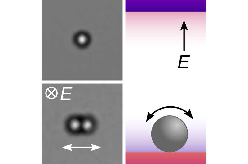 Las bolas microscópicas tiemblan cuando se golpean