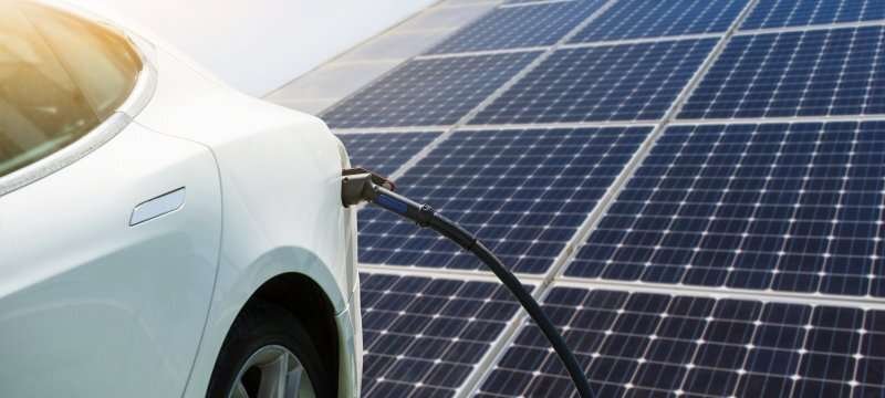 Model for solar awnings to recharge vehicles