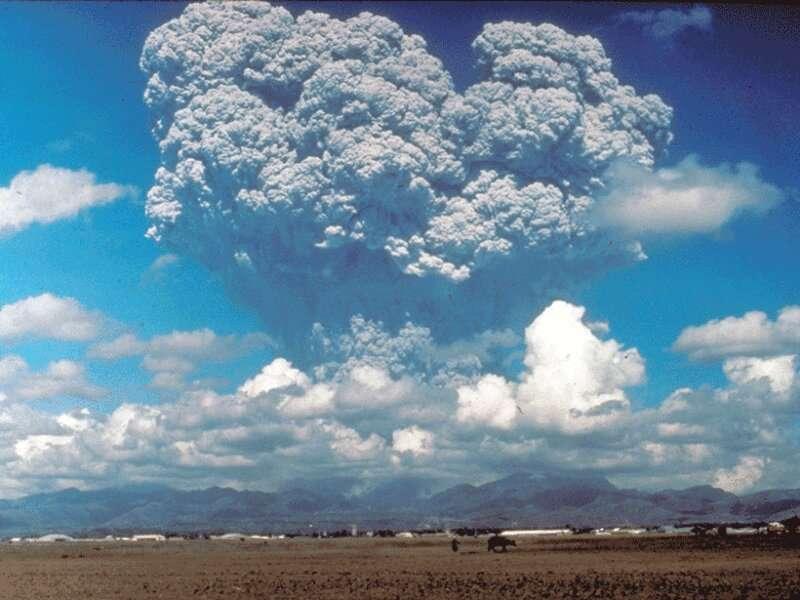 Modeling Volcanic Debris Clouds