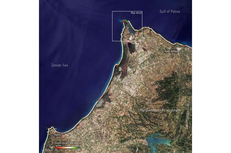 Monitoring coastal changes in Greece