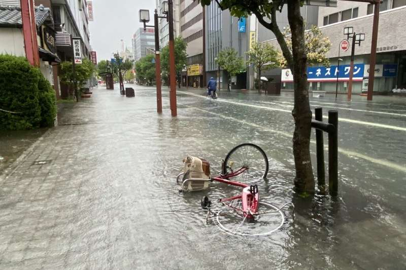 More than a metre of rain has been recorded since Wednesday in the northern part of Kyushu