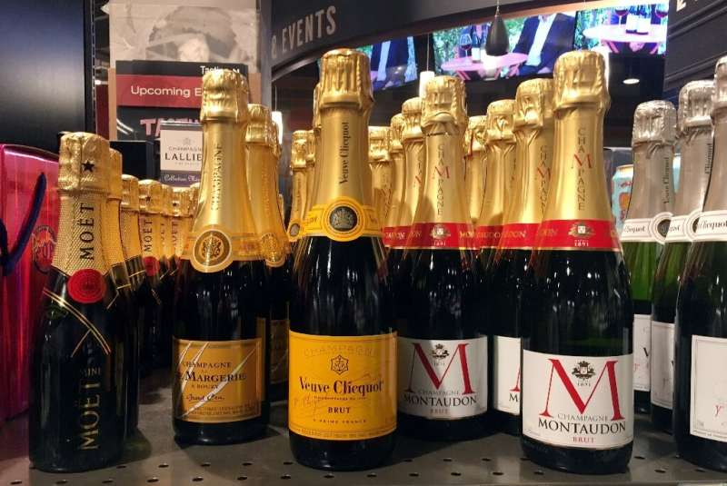 More than half of Champagne production is exported