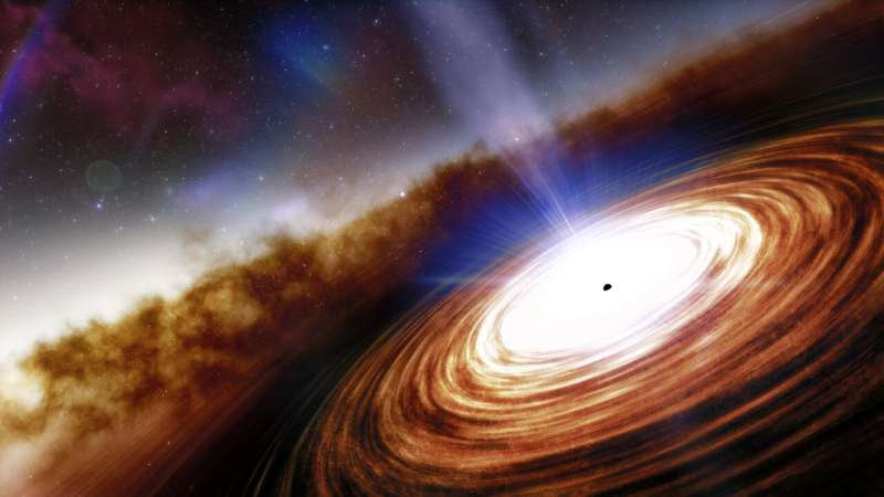 The farthest open quasar sheds light on the growth of black holes