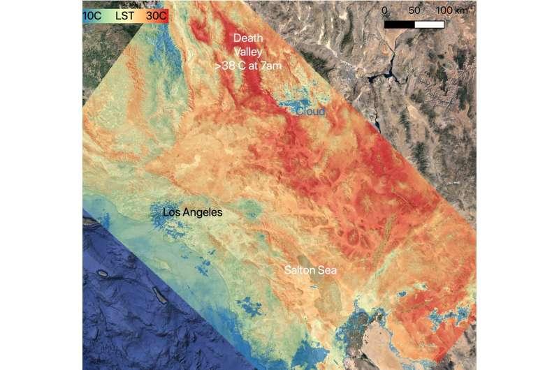 NASA tracks heat wave over U.S. southwest