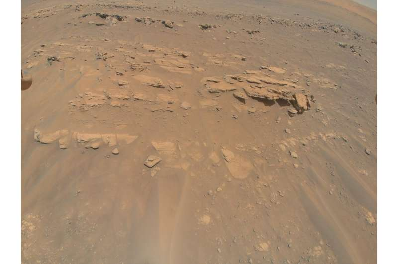 NASA's Ingenuity helicopter captures a Mars rock feature in 3D