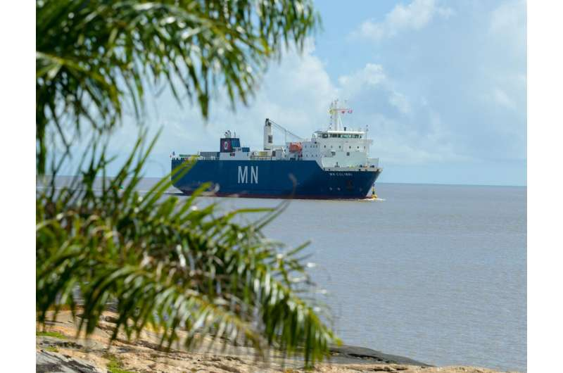 NASA's Webb space telescope arrives in French Guiana after sea voyage