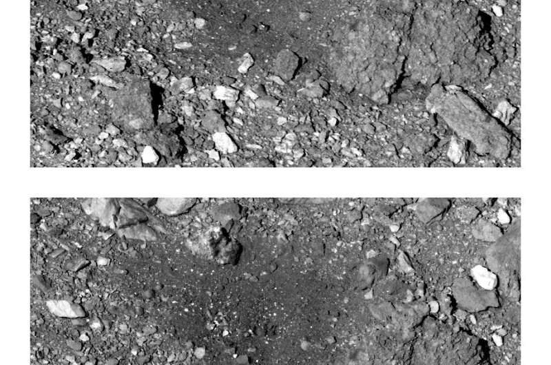 NASA's spacecraft leaves a mess after asteroid sampling