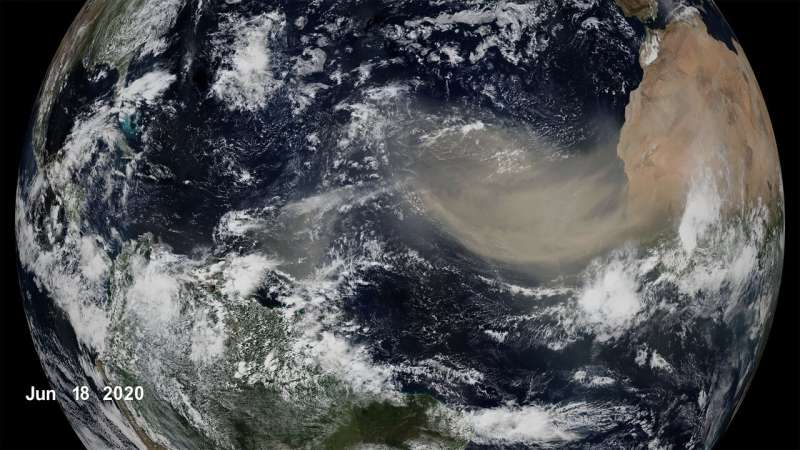 NASA study predicts less Saharan dust in future winds