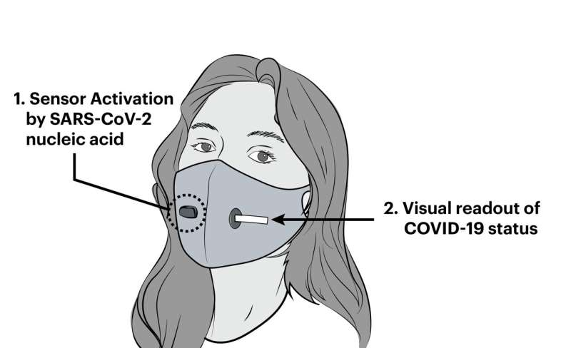 New face mask prototype can detect COVID-19 infection