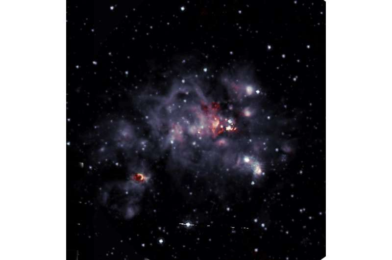 New look at a bright stellar nursery
