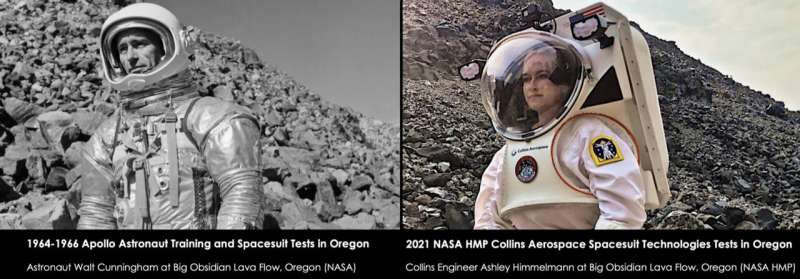 New spacesuit technologies for moon and Mars exploration tested in Oregon where Apollo astronauts once trained and tested spaces