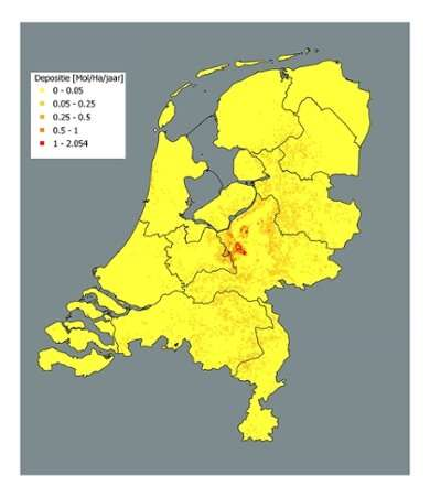 New map of the Netherlands shows where nitrogen reduction will be most effective