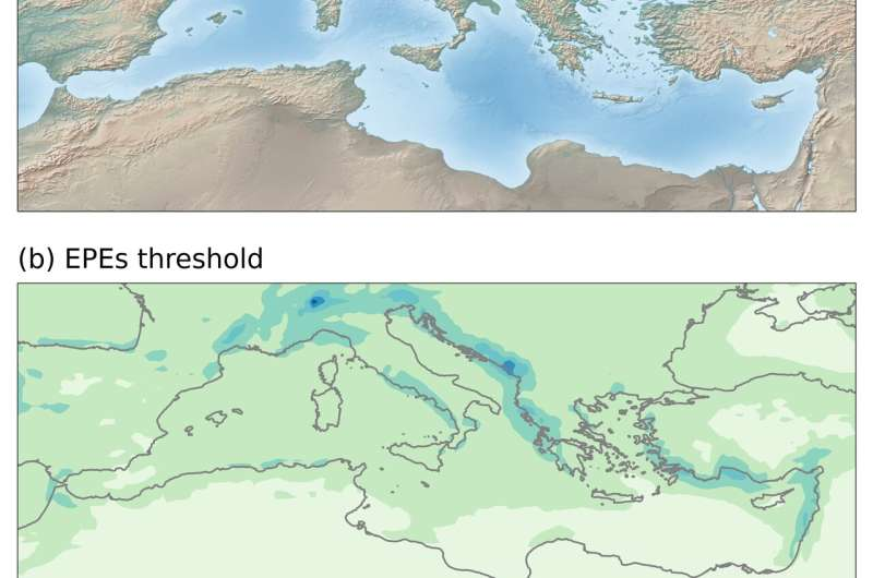 New study on the forecasting of extreme rainfall events in Mediterranean countries