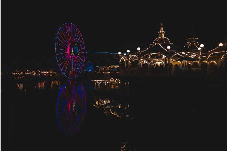 nighttime artificial lights