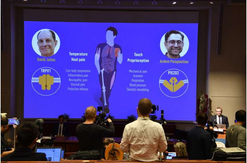 Nobel Prize honors discovery of temperature, touch receptors