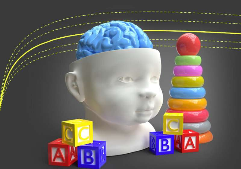 Normal brain growth curves for children developed childhood brain disorders, infections and injuries