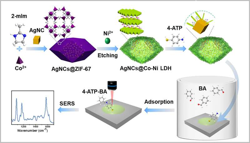 Novel SERS sensor helps to detect aldehyde gases