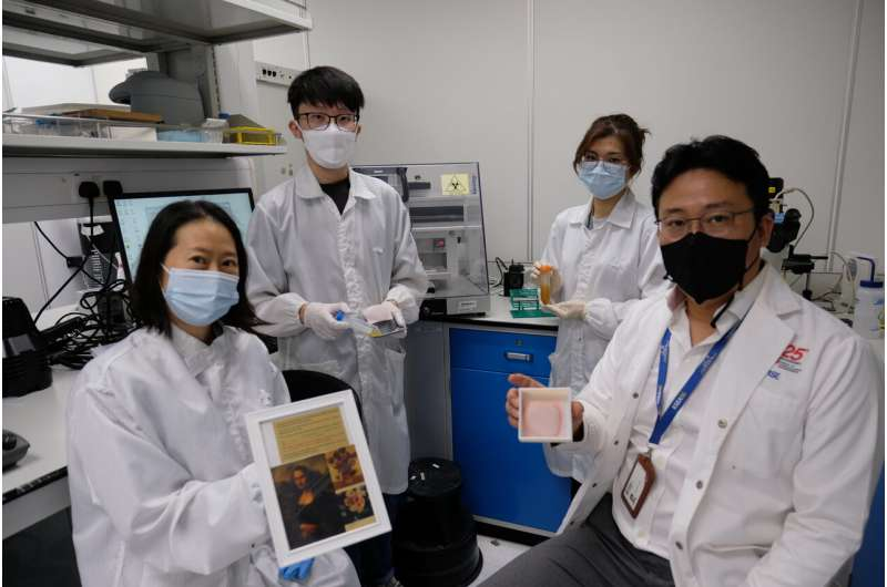 NTU Singapore scientists turn pollen into 3D printing ink for biomedical applications