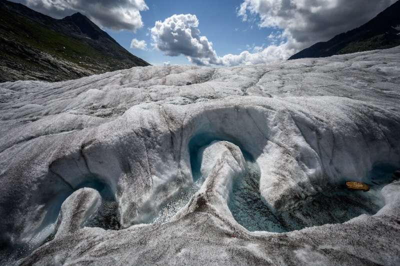 Over the past decade, the Aletsch glacier has seen 1.5 metres (yards) shaved off its thickness each year