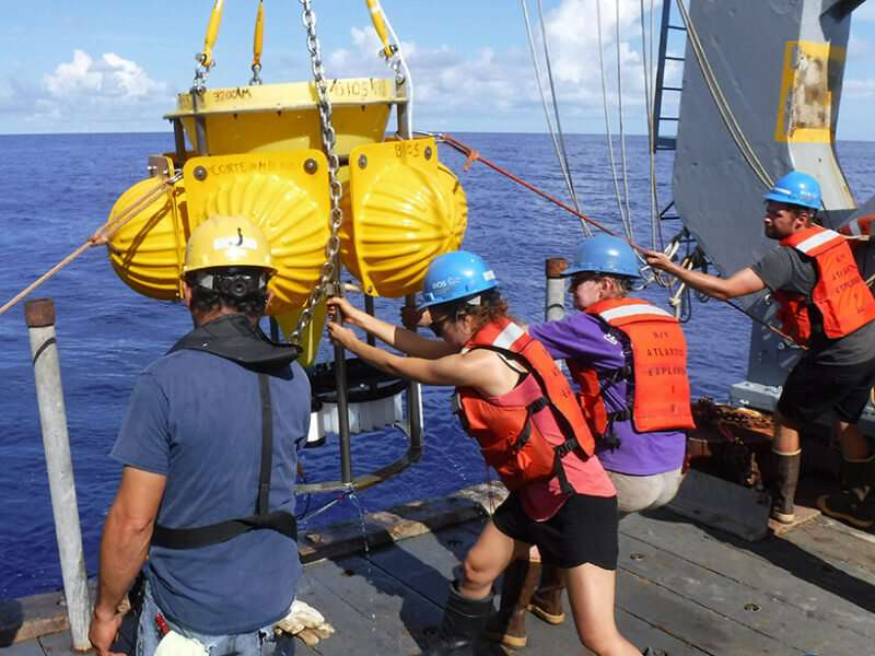 Particles at the ocean surface and seafloor aren't so different