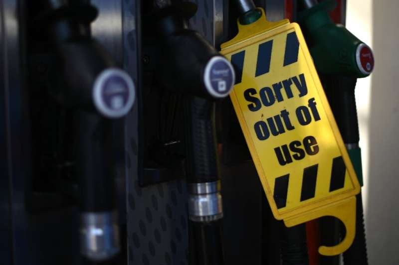 Petrol stations ran dry of certain fuels because of a lack of lorry drivers