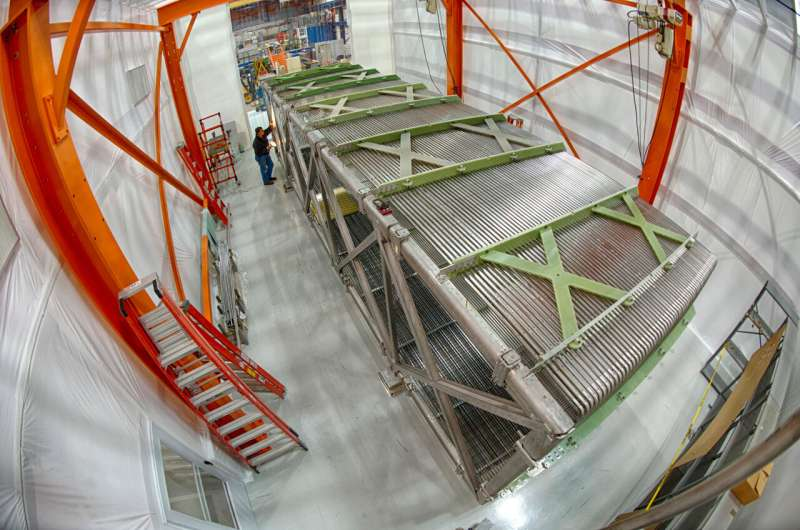 Physicists achieve significant improvement in spotting accelerator-produced neutrinos in a cosmic haystack