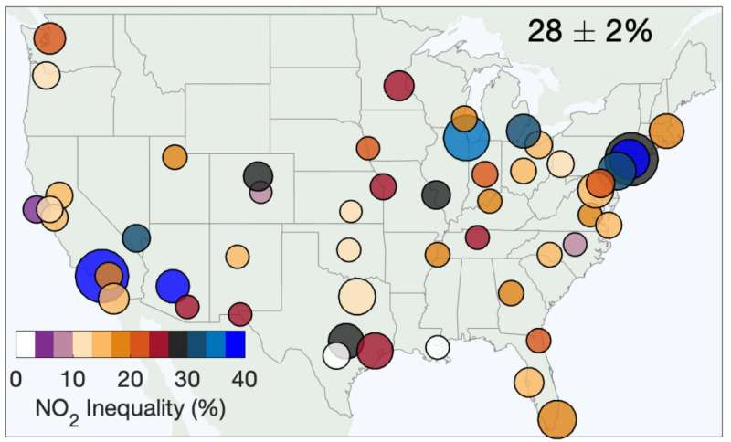 Pollution from freight traffic disproportionately impacts communities of color across 52 US cities