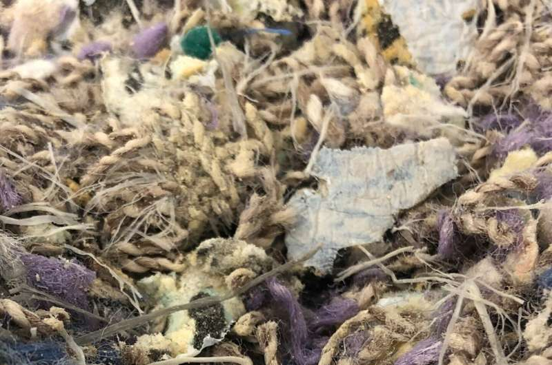 Polypropylene recycling from carpet waste