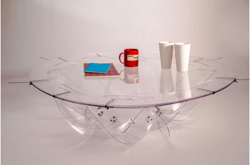 Pop-up coffee table -- no assembly required