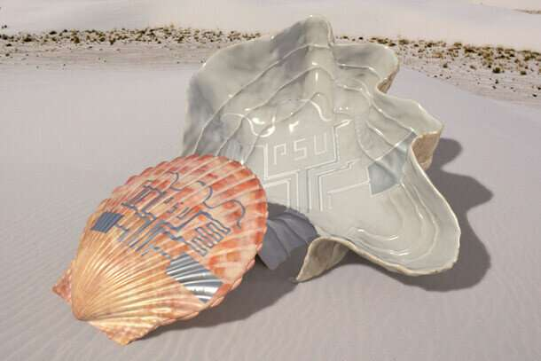 Printing circuits on irregular surfaces with pulses of light