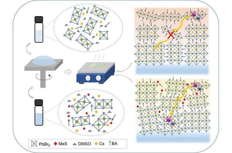 Producing highly efficient LEDs based on 2D perovskite films