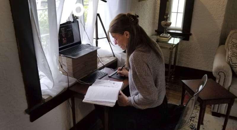 Professor overcomes loss to craft COVID-19 student brochures