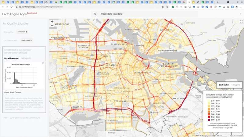 Project Air View maps ultrafine particles, soot and other substances in Amsterdam air